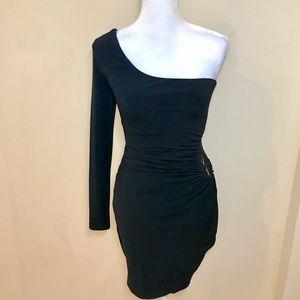 Little Black One Shoulder Dress!